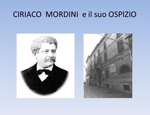 CIRIACO MORDINI e il suo OSPIZIO